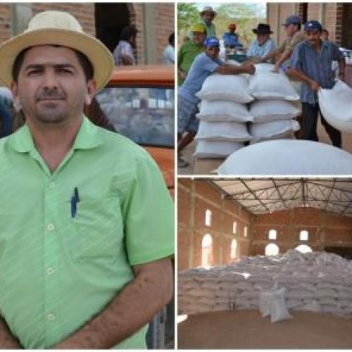 Produtores recebem 194 toneladas de milho para alimentação de animais