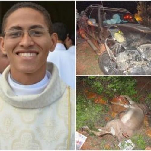Padre de Simões sofre acidente na BR 316; carro da paróquia ficou destruído. Veja fotos!