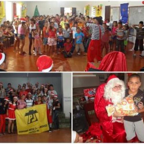 JAICÓS: PJ promove 'Natal Solidário' e distribui presentes para crianças carentes; fotos