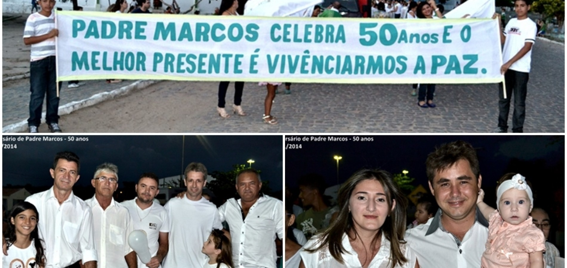 PADRE MARCOS 50 ANOS: Caminhada pela Paz, Missa e Show Católico