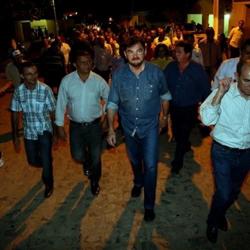 Governador Wilson Martins participa do aniversário de Curral Novo