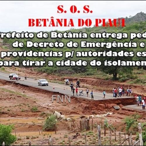 Prefeito de Betânia entrega pedido de Decreto de Emergência ao Governo e pede providências