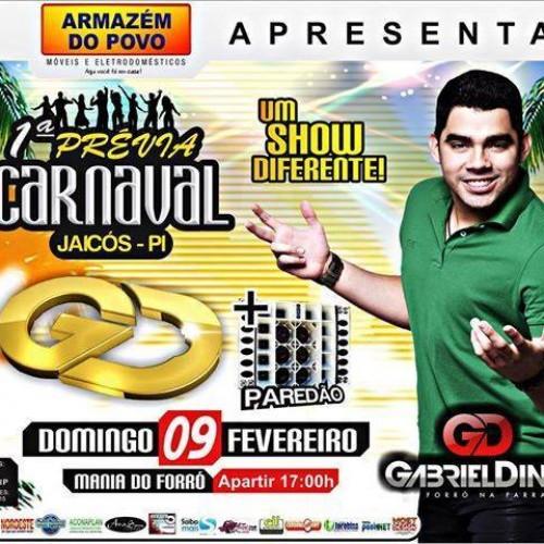Gabriel Diniz agita a 1ª prévia de carnaval em Jaicós neste domingo (9)