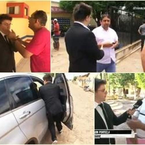 CQC mostra perseguição a prefeito e briga com jornalista do Piauí. Vídeo!