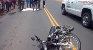 Homem cai de moto e morre no Km 87 na BR 316
