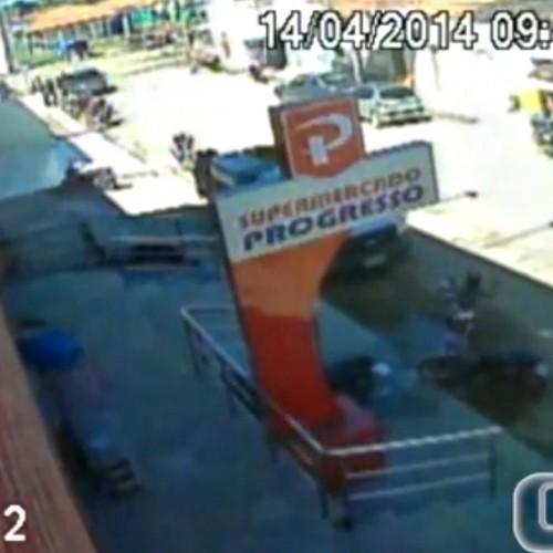 Vídeo mostra ação de quadrilha durante assalto a banco no Piauí