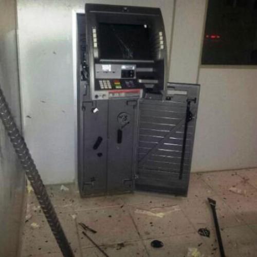 Dupla armada de escopeta explode caixa do Bradesco em Geminiano; veja fotos