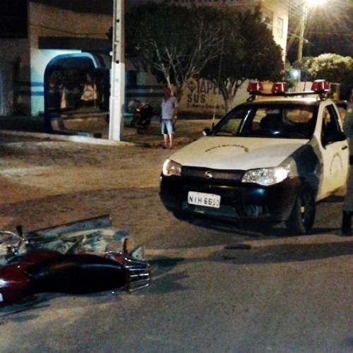 Motociclista embriagado bate em viatura da Polícia Militar e acaba preso em Jaicós; veja fotos
