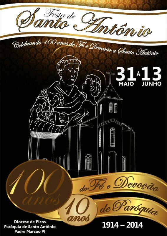 Cartaz do centenário - Padre Marcos