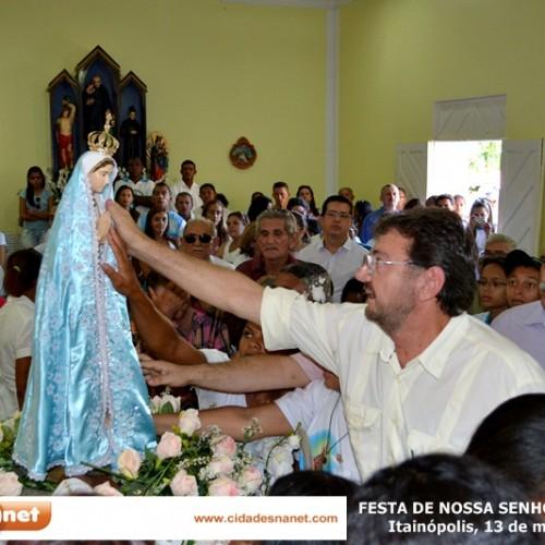 Wilson Martins visita Itainópolis e participa dos festejos de Nossa Senhora de Fátima; fotos