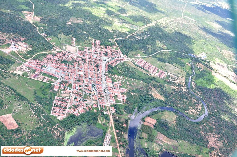 Imagem aérea da cidade de Padre Marcos