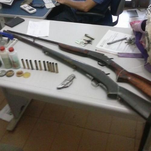 Polícia de Fronteiras  realiza operação e apreendem armas em quatro municípios