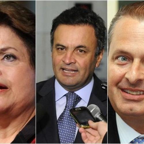 Dilma 40%, Aécio 20% e Eduardo 11%, diz nova pesquisa do Ibope