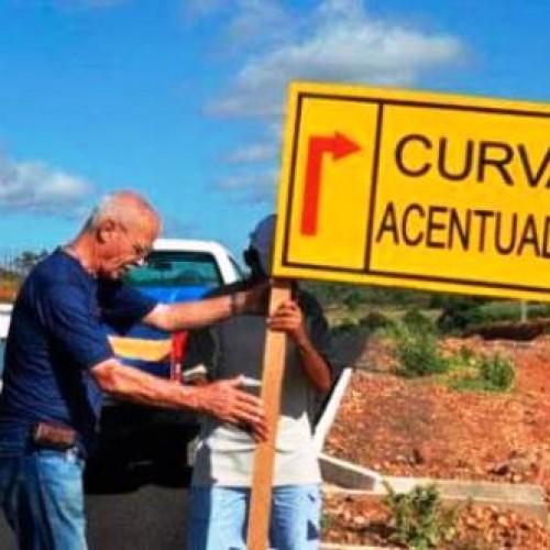 Temendo pela vida dos condutores, padre sinaliza rodovia na região de Picos