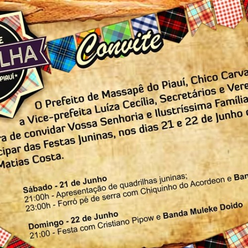 Prefeitura de Massapê do Piauí divulga edital do Festival de Quadrilhas. Veja!