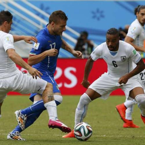 Copa do mundo: Uruguai vence jogo por 1 a 0 e elimina Itália