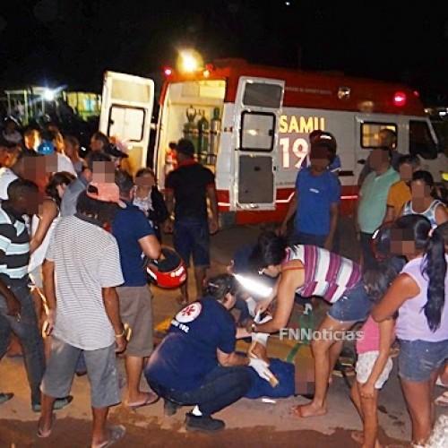 Acidente envolvendo moto e carro deixa homem ferido em Paulistana; veja as imagens