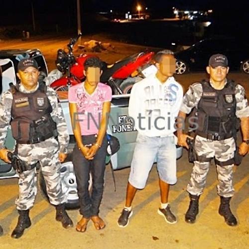 Paulistana: Força Tática prende dupla acusada de roubar moto