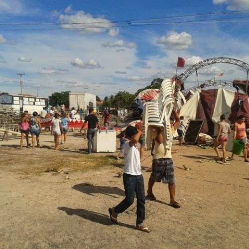 Circo desaba em Campo Grande do Piauí. Veja imagens!