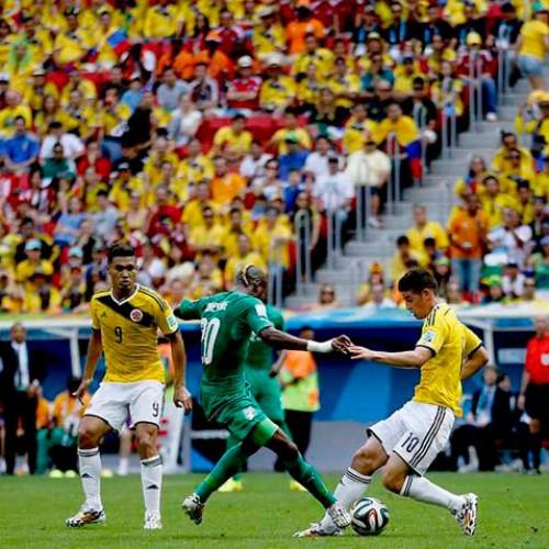Colômbia derrota a Costa do Marfim e segue na liderança do grupo