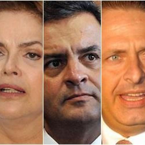 Em queda, Dilma tem 34%, Aécio 19% e Eduardo Campos 7% em pesquisa Datafolha