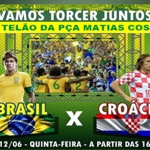 Prefeitura de Massapê vai instalar telão na praça Matias Costa para a estréia do Brasil na Copa