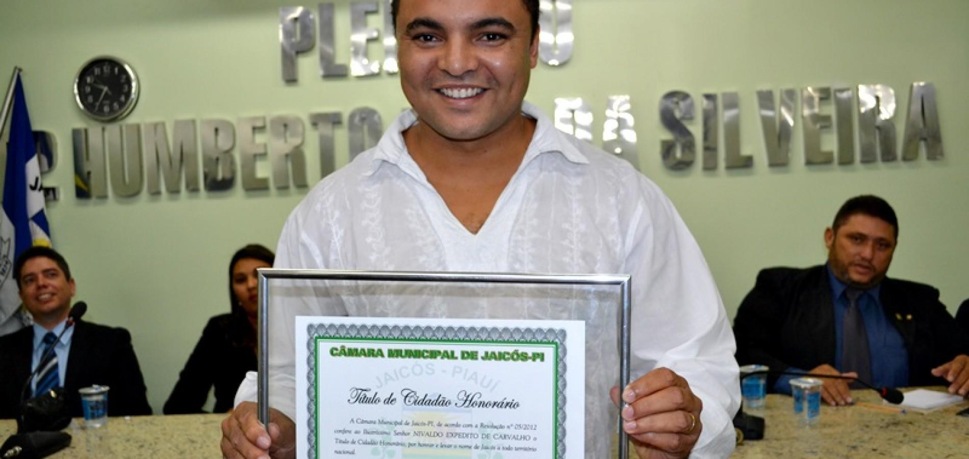 Chambinho do Acordeon é homenageado com o Título de Cidadão Honorário de Jaicós