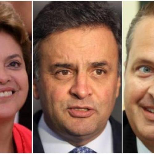 Ibope mostra Dilma com 38%, Aécio com 22% e Campos com 8%