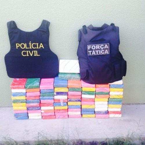 Cocaína apreendida dentro de carro no PI é avaliada em R$ 2,5 milhões
