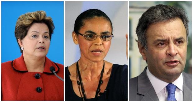 IBOPE   Dilma TEM 34%, Marina 29% e Aécio, 19%;  Marina venceria eleição no turno 2ª