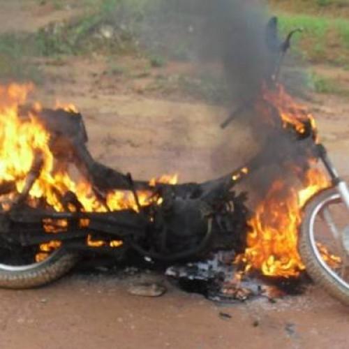 Moto explode e deixa condutor gravemente ferido no interior do Piauí