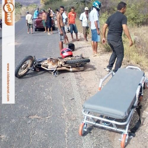 Acidente deixa três gravemente feridos na rodovia que interliga Jaicós e Massapê; imagens fortes