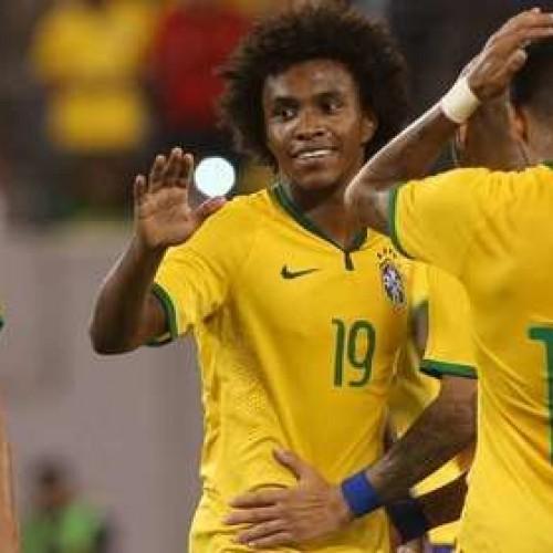 Com gol de Willian, Brasil vence segunda partida sob o comando do técnico Dunga