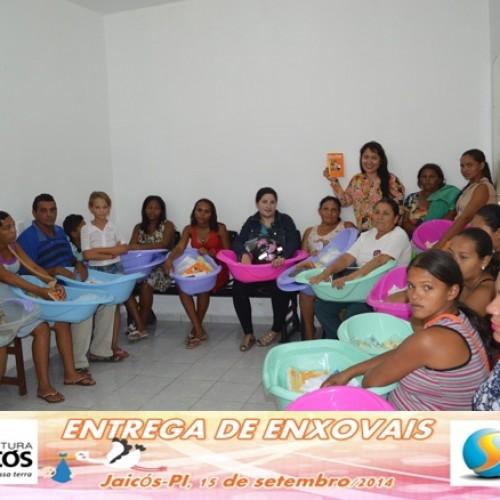 JAICÓS   Prefeita Waldelina Crisanto realiza entrega de enxovais para gestantes