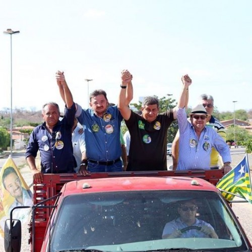 Zé Filho e Wilson visitam Padre Marcos e participam de carreata