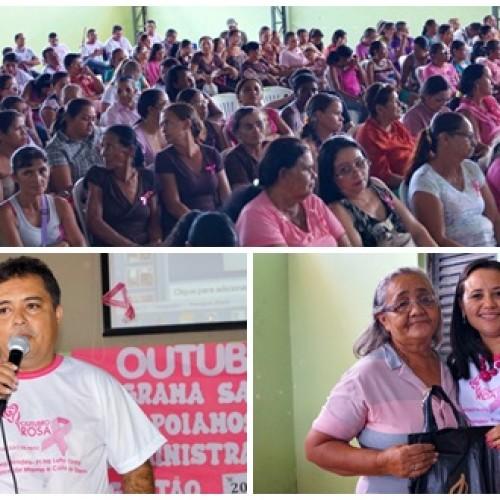 Prefeitura de Vera Mendes promove 'Dia Rosa' com foco na saúde e direitos da mulher; veja fotos