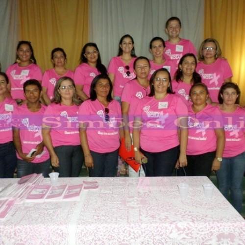 """Alusivo ao """"Outubro Rosa"""", Saúde de Simões promove palestra sobre o câncer de mama e de útero"""