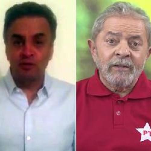 Vídeo de Aécio acusa PT de infâmia; Lula: 'Ele dizia para acabar com PT'