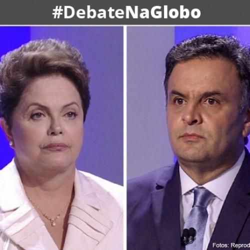 Dilma e Aécio realizam hoje o último debate presidencial na TV Globo