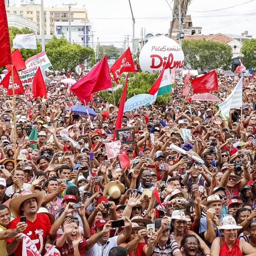 Comício de Dilma reúne 30 mil pessoas em Petrolina; veja fotos