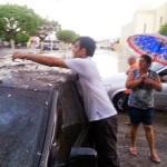 Chuva de granizo assusta moradores dos municípios de Fronteiras e Pio IX; veja fotos