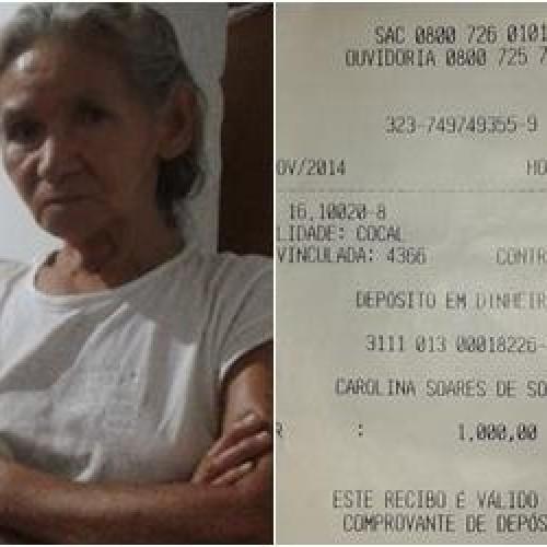 Aposentada faz depósito de R$ 1 mil ao cair em golpe do falso sequestro