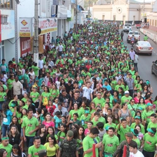Marcha Pra Jesus e Missa fazem parte da comemoração do aniversário de Picos