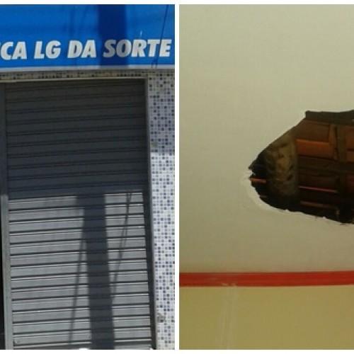 CARIDADE | Bandido tenta roubar lotérica na madrugada, fica preso e só foge com a chegada do funcionário
