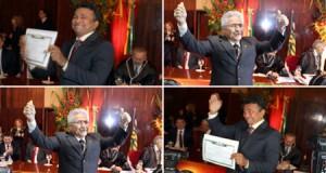 Durante 'diplomação dos eleitos', Fábio Abreu e Elmano Férrer são os mais aplaudidos
