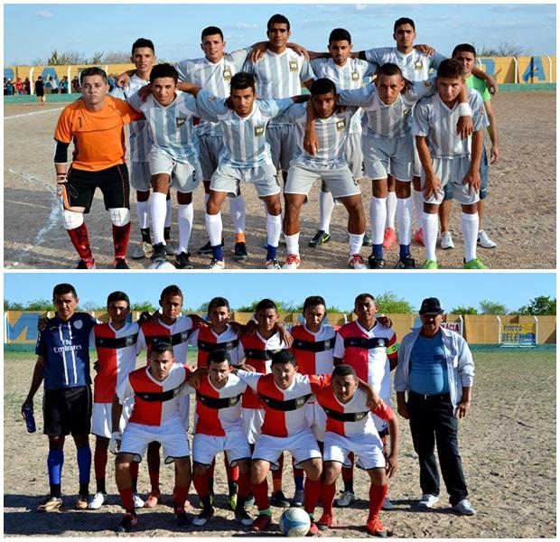 Finalistas Juventude (acima) e Carquejo (abaixo)