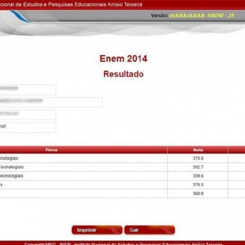 MEC divulga as notas do Enem 2014; Confira!