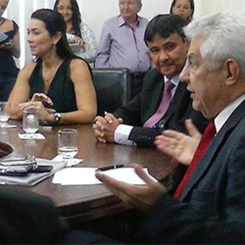 W.Dias recebe Chinaglia no Karnak em reunião com a bancada federal