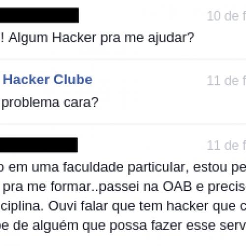 Aprovado na OAB pede que hacker invada sistema de faculdade