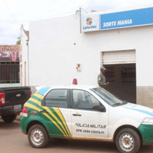 Bandidos cortam energia e roubam  R$ 10 mil em loteria no Piauí